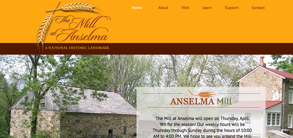 The Mill at Anselma website homepage