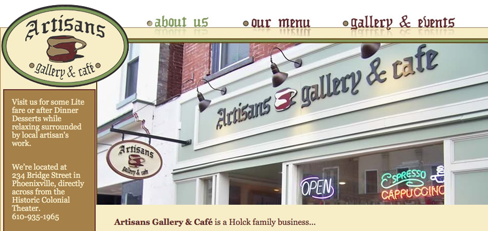 Artisans Gallery & Cafe homepage