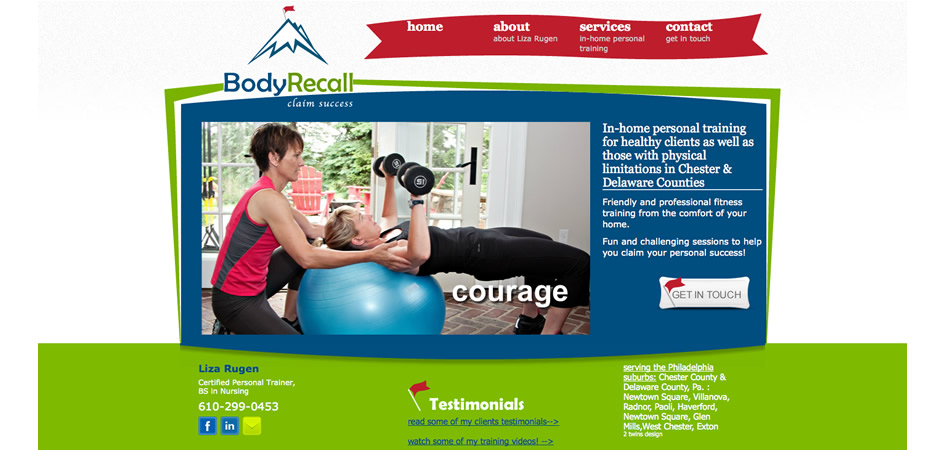 Body Recall website homepage