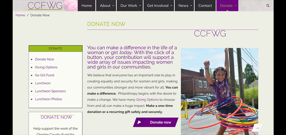 Chester County Fund for Women and Girls internal PAGE