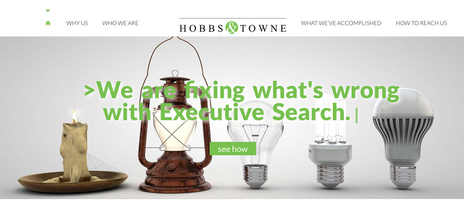 hobbs and towne website homepage