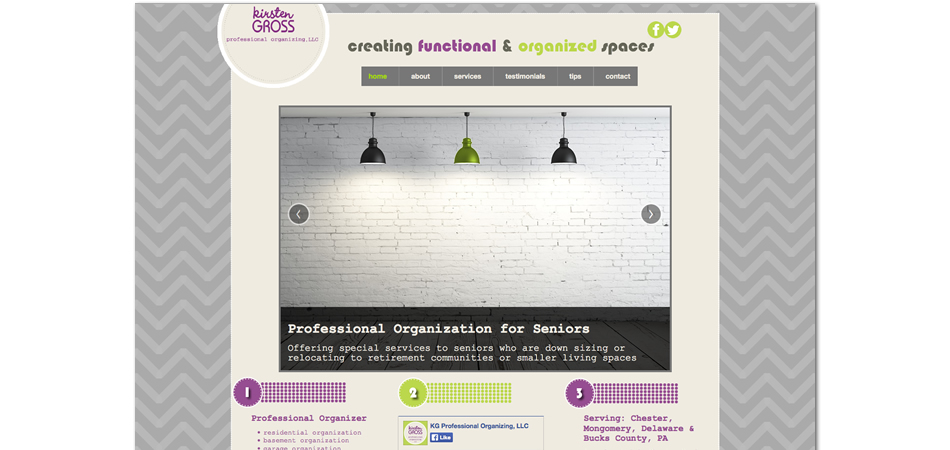 Kirsten Gross Professional Organization website homepage