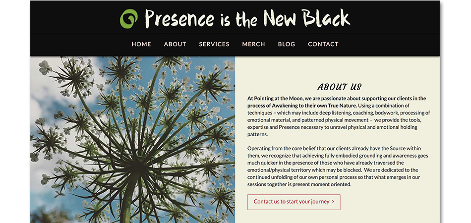 Presence is the New Black PAGE