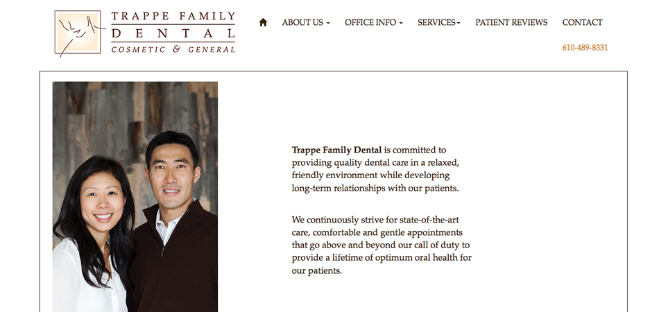 Trappe Family Dental mobile site